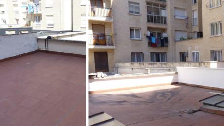 Reparación muretes en terrazas